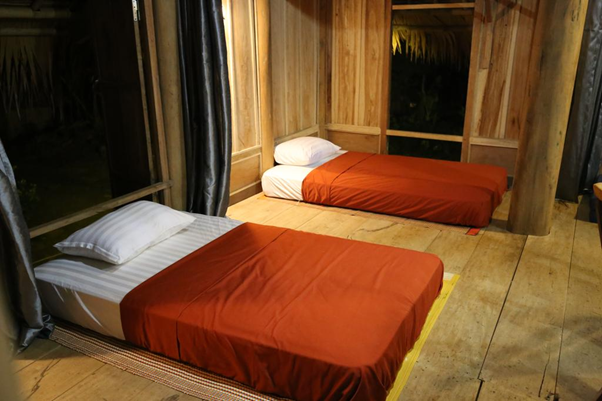 Phòng ngủ Bản Hiệu Garden Lodge Pù Luông