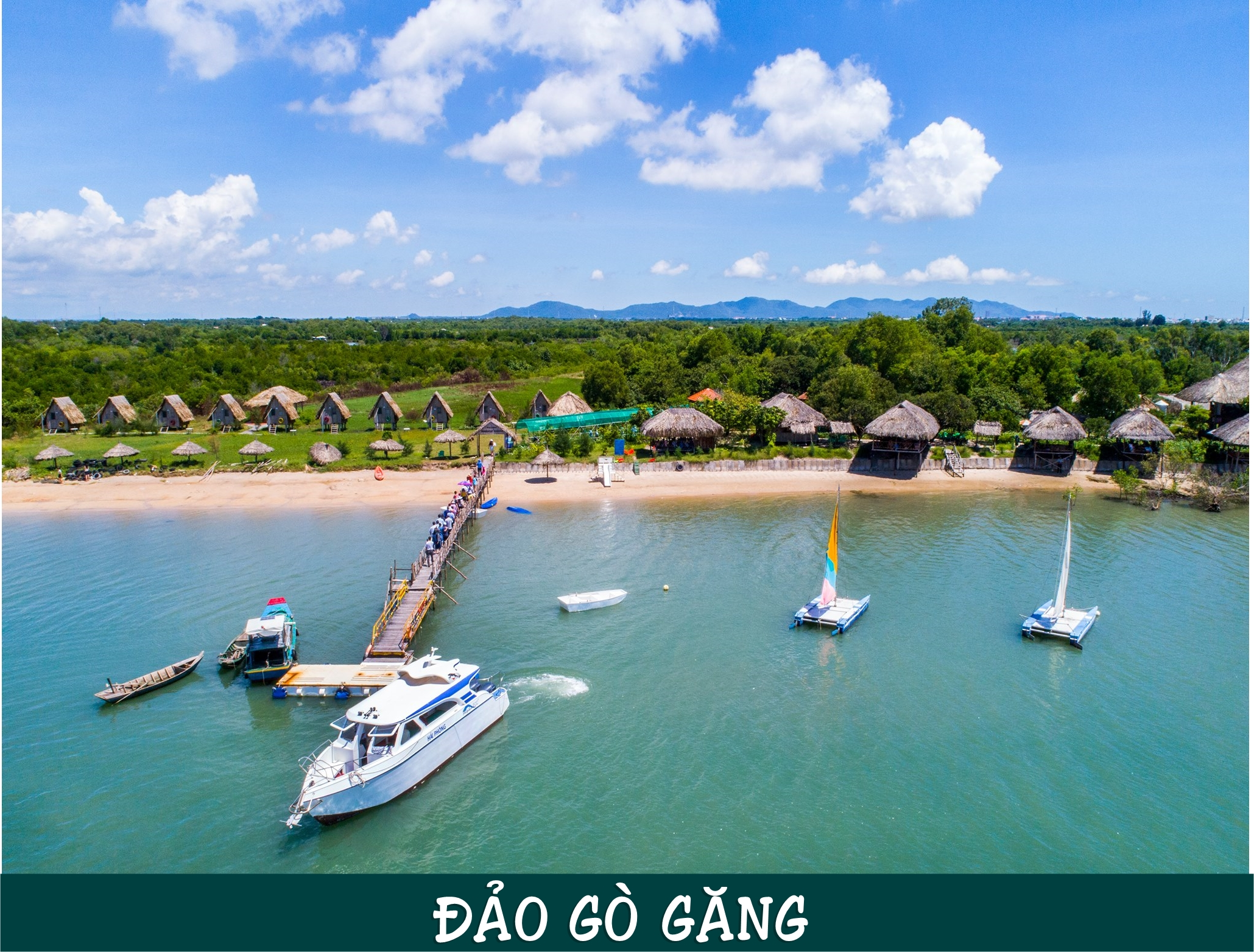 Đảo Gò Găng là thuộc địa phận xã Long Sơn và nằm cách trung tâm thành phố Vũng Tàu khoảng 3 km về hướng Tây Nam.