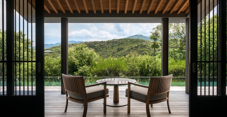 mountain pool villa terrace office 15057