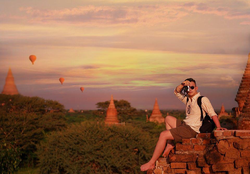 Tới chùa Shwesandow Pagoda. Con đường trước cổng bạn đi thẳng khoảng 4km nữa, để ý có nhiều tây chạy xe là cứ bám theo nha haha là tới chùa bỏ hoang này