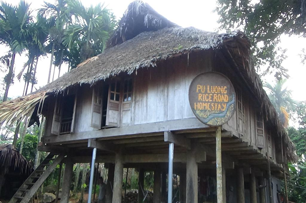 Lối vào của Puluong RiceRoad Homestay
