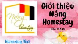 Giới Thiệu Nắng Homestay Nha Trang