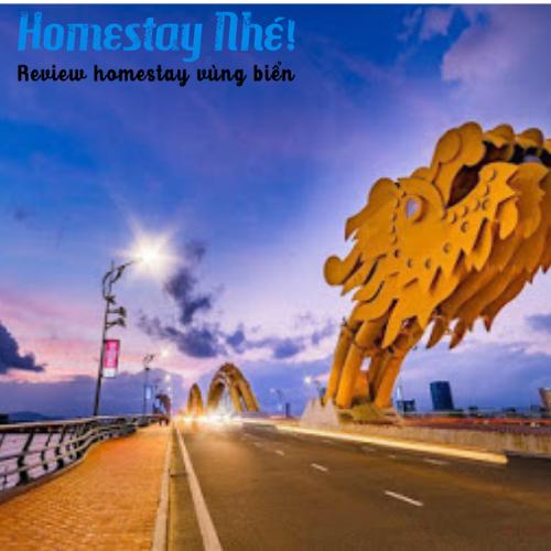Cầu Rồng cách Full House Homestay 5 phút đi bộ
